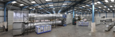 Large AHU test arrangement at Dalair's Technical Centre